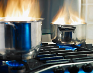 Fire safety tips, avoid catching pots on fire